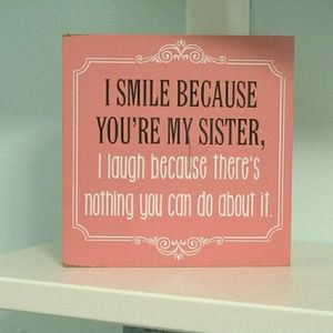 Kohl's Pink Wooden Sister Quote Room Decoration